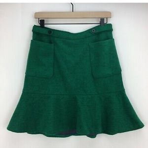 Anthropology pencil flounce skirt with pockets